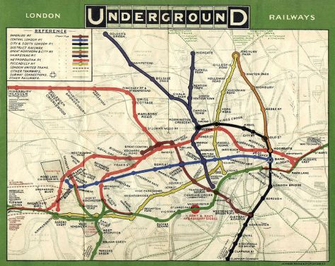 The ORIGINAL London Underground map