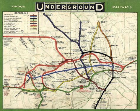 The ORIGINAL London Underground map