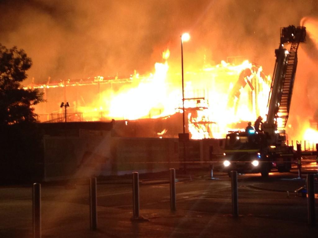 Jubilee Campus Fire 2014