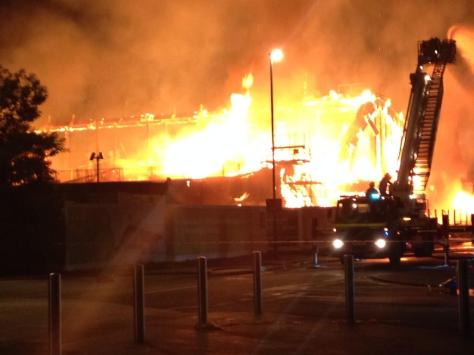 Jubilee Campus Fire 2014