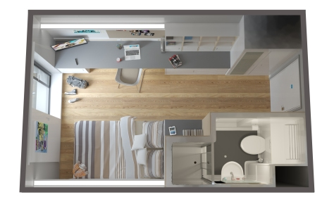 Student Room concept